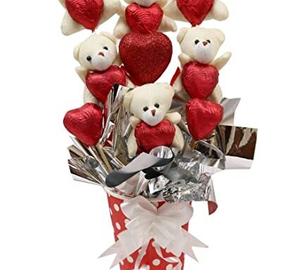Cute heart shaped chocolate teddy  basket (code:141)