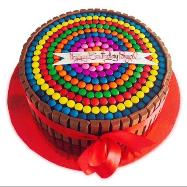 Colourful gems cake (code:71)