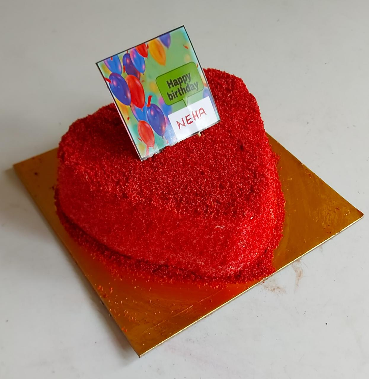 1kg Heart shaped red velvet cake (code:252)