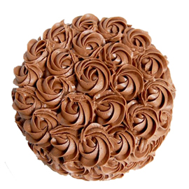 Brown flower chocolate cake (code:56)