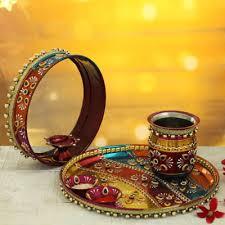 Beautiful karwa chauth thali set (code:98)