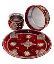 Beautiful karwa chauth thali (code:97)