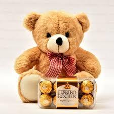 16 pieces ferrero rocher with cute teddy (code:112)