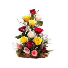Colourful roses special basket (code:90)