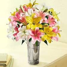Colourful Bunch with vase (code:43)