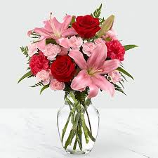 Sweet flower with vase for new year (code:225)