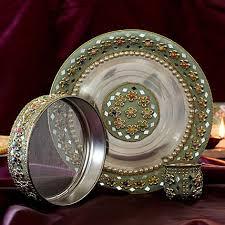 Elegant Sillver Thali (code:145)
