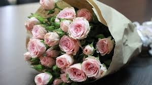 Beautiful pink rose bouquet for new year (code:226)