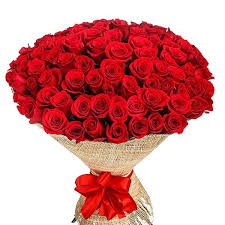 100 roses heavy bunch  for valentines day