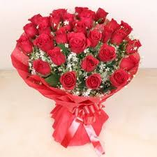 50 red rose bunch for valentines  day