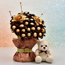 chocolate bouquet for  teddy day