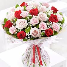 30 Mix roses bouquet for rose day (code:264)