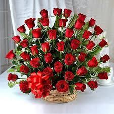 30 roses basket for  rose day