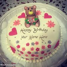 beautiful cake for teddy day