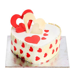 1 kg Heart shaped cake (code: 237)